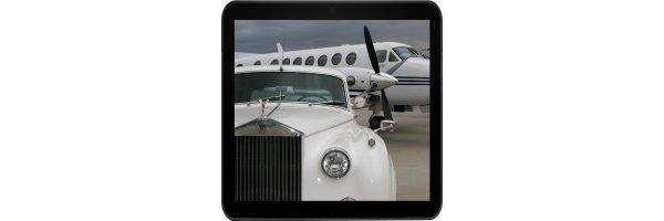 Autos und Flugzeuge