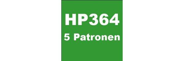 HP364 - 5 Patronen