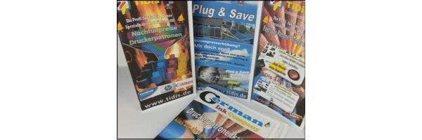 Druckservice Flyer + Broschüren