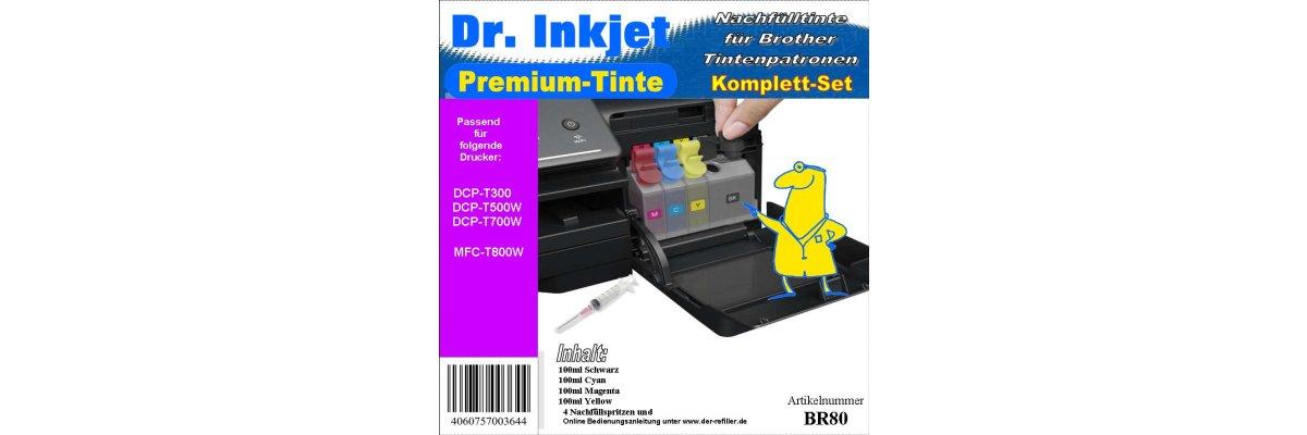 Druckertinte / Nachfülltinte für Brother MFC-T800W - Druckertinte / Nachfülltinte für Brother MFC-T800W