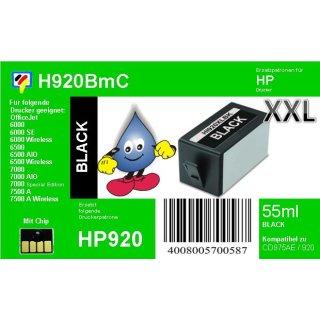 HP920BXL - TiDis XL Ersatzpatrone - schwarz - mit 55ml Inhalt ersetzt CD975AE