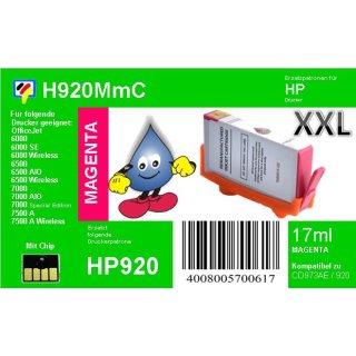 HP920MXL - TiDis XL Ersatzpatrone - magenta - mit 17ml Inhalt ersetzt CD973AE
