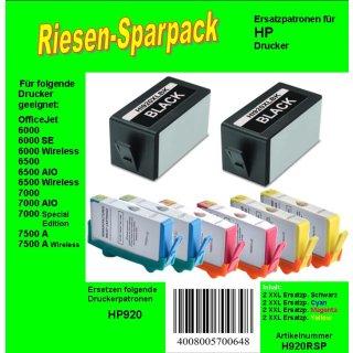 HP920 - TiDis XL Ersatzpatronen Riesensparpack - B/C/M/Y - mit 8 XLPatronen Inhalt - Ersetzten HP920XL Druckerpatronen