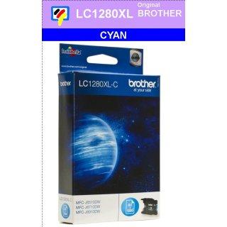 LC1280XLC Brother XL Druckerpatrone cyan mit 1.200 Seiten Druckleistung nach ISO