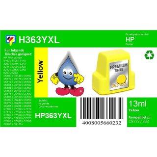 HP363Y - TiDis Ersatzpatrone für C8773EE - yellow -  mit 13ml Inhalt/ersetzen HP363 Druckerpatronen