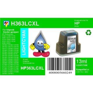 HP363LC - TiDis Ersatzpatrone für C8774EE - lightcyan -  mit 13ml Inhalt/ersetzen HP363 Druckerpatronen