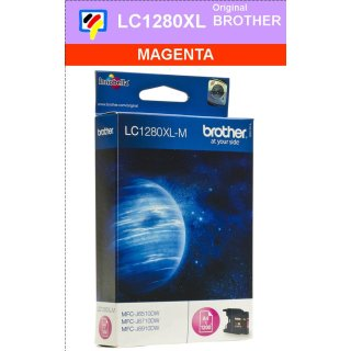 LC1280XLM Brother XL Druckerpatrone magenta mit 1.200 Seiten Druckleistung nach ISO