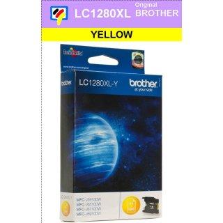 LC1280XLY Brother XL Druckerpatrone yellow mit 1.200 Seiten Druckleistung nach ISO