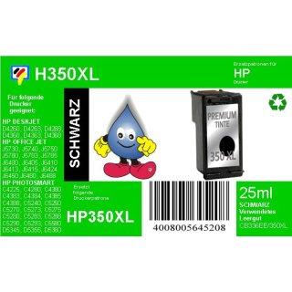 HP350XL - TiDis Ersatzpatrone für CB336EE - schwarz -  mit 25ml Inhalt