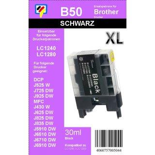 LC-1280XLBK TiDis XL Ersatzdruckerpatrone Black mit 2.400 Seiten Druckleistung nach ISO - ersetzt die LC-1280, LC-1240, LC-1220