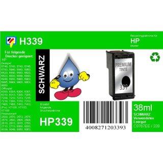 HP339 - TiDis Ersatzpatrone für C8767EE - schwarz -  mit 21ml Inhalt