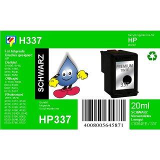 HP337 - TiDis Ersatzpatrone für C9364EE - schwarz -  mit 20ml Inhalt