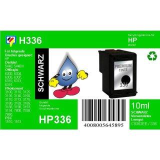 HP336 - TiDis Ersatzpatrone für C9362EE - schwarz -  mit 10ml Inhalt
