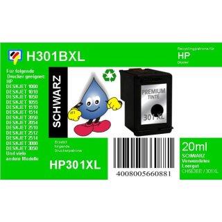 HP301BXL - TiDis Ersatzpatrone für CH563EE - schwarz -  mit 20ml Inhalt / HP301BXL