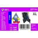 LC-1280XLC TiDis Ersatzdruckerpatrone Cyan für...