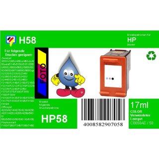 HP58 - TiDis Ersatzpatrone für C6658AE - fotofarben -  mit 17ml Inhalt / ersetzt HP58