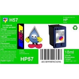 HP57 - TiDis Ersatzpatrone für C6657AE - color -  mit 18ml Inhalt / ersetzt HP57CXL