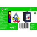 HP57 - TiDis Ersatzpatrone für C6657AE - color -...