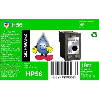 HP56 - TiDis Ersatzpatrone für C6656AE - schwarz -  mit 19ml Inhalt