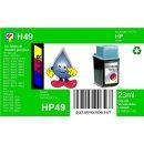 HP49 - TiDis Ersatzpatrone für 51649AE - color -  mit 22ml Inhalt