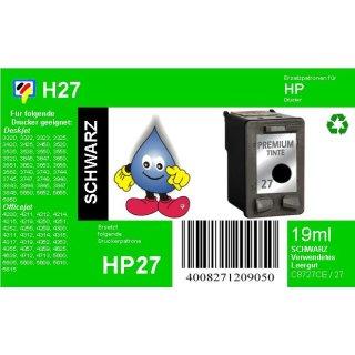 HP27 - TiDis Ersatzpatrone für C8727AE - schwarz -  mit 10ml Inhalt und ca. 220 Seiten Druckleistung nach Iso