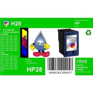 HP28 - TiDis Ersatzpatrone für C8728AE - color -  mit 8ml Inhalt und ca. 190 Seiten Druckleistung nach Iso