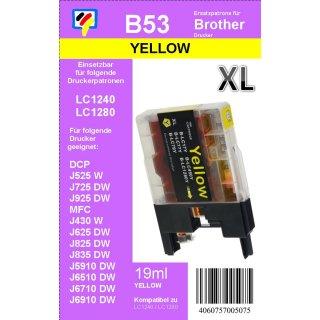 LC-1280XLY TiDis Ersatzdruckerpatrone Yellow für die LC-1280Y, LC-1240Y, LC-1220Y mit 19ml Inhalt für 1.200 Seiten