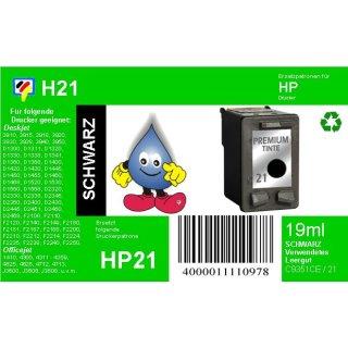HP21 - TiDis Recyclingpatrone für C9351CE - schwarz -  mit 19ml Inhalt