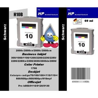 HP10B - TiDis Recyclingpatrone für C4844AE - schwarz -  mit 69ml Inhalt / HP10