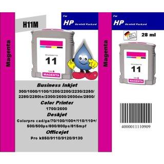 HP11M - TiDis Recyclingpatrone für C4837AE - magenta -  mit 28ml Inhalt