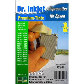 JY169 - T071x Chip-Resetter für EPSON-Druckerpatronen T0711-T0714 + T0891-T0894 (9PIN)
