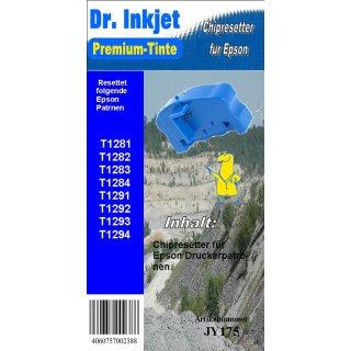 JY175 - T128x Chipresetter für Epson Patronen T1281, T1282, T1283, T1284 (Motiv: Fuchs)