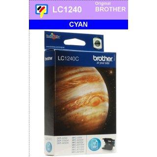 LC1240C Brother Druckerpatrone Cyan mit 600 Seiten Druckleistung nach ISO für Brother DCP-J525W, DCP-J725DW, DCP-J925DW, MFC-J430W, MFC-J625EW, MFC-J825DW, MFC-J6510DW, MFC-J6710DW, MFC-J6910DW
