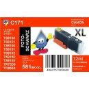 CLI-581BK XXL TiDis Ersatzpatrone schwarz mit ca. 12ml...