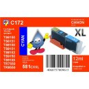 CLI-581C XXL TiDis Ersatzpatrone cyan mit ca. 12ml Inhalt...
