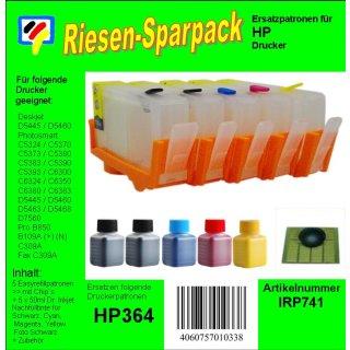 IRP741 - H364er CISS Komplettset - ALLES DRIN - 5er Set