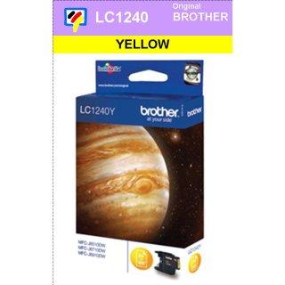 LC1240Y Brother Druckerpatrone Yellow mit 600 Seiten Druckleistung nach ISO für Brother DCP-J525W, DCP-J725DW, DCP-J925DW, MFC-J430W, MFC-J625EW, MFC-J825DW, MFC-J6510DW, MFC-J6710DW, MFC-J6910DW