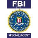 FBI Ausweis mit Bild und beidseitig bedruckt -...