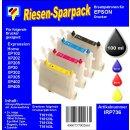 IRP736 - Starterpack CISS / Easyrefill T18 + T18XL Multipack mit 4 Patronen und 250ml Dr.Inkjet Premium Nachfülltinte