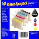 IRP723 - Starterpack CISS / Easyrefill T1281-T1284 Multipack mit 4 Patronen und 250ml Dr.Inkjet Premium Nachfülltinte