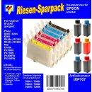 IRP707 - Komplettset CISS / Easyrefill T0801-T0806 Multipack mit 6 Patronen und 300ml Dr.Inkjet Premium Nachfülltinte