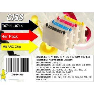 T0711-T0714 Multipack mit 4 Patronen IRP304MP - CISS / Easyrefill / Leerpatronen