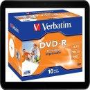 VERBATIM DVD-R 4.7GB 16X (10) JC 43521 JEWEL CASE BREIT...