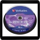 VERBATIM DVD+R 8.5GB 8X (10) SP 43666 SPINDEL DOUBLE...