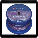 VERBATIM DVD+R 4.7GB 16X (50) SP 43550 SPINDEL MATT SILBER