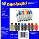 IRP722 - Komplettset CISS / Easyrefill T0541-T0549  Multipack mit 8 Patronen und 400ml Dr.Inkjet Premium Nachfülltinte
