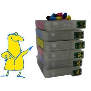 T0481-T0486 Multipack mit 6 Patronen - IRP309MP - CISS / Easyrefill / Leerpatronen