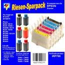 IRP708 - Komplettset CISS / Easyrefill T0481-T0486  Multipack mit 6 Patronen und 300ml Dr.Inkjet Premium Nachfülltinte