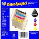 IRP706 - Komplettset CISS / Easyrefill T0441-T0444  Multipack mit 4 Patronen und 250ml Dr.Inkjet Premium Nachfülltinte