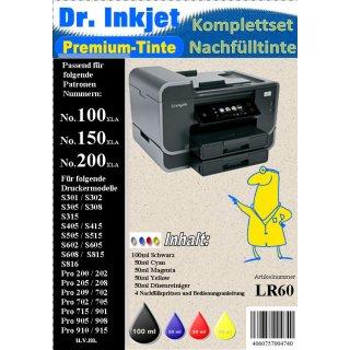 LR60 - Dr. Inkjet Nachfülltinte für Lexmark A Patronen